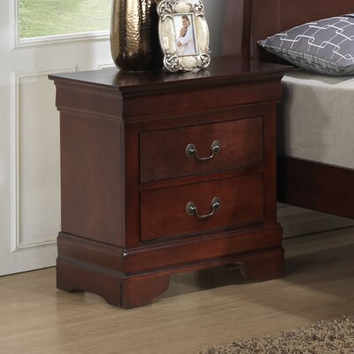 Corbeil 2 Drawer Nightstand Finish: Cherry