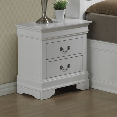 Mayssa 2 Drawer Nightstand Color: White