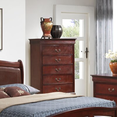 Corbeil 5 Drawer Chest Color: Cherry