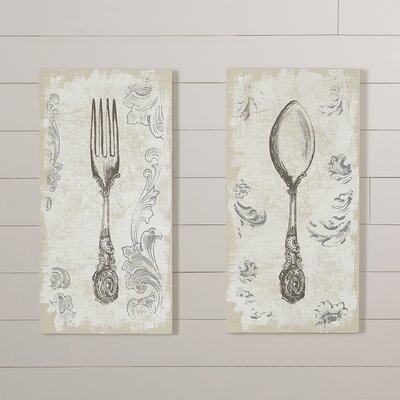 2 Piece Graphic Art Plaque Set