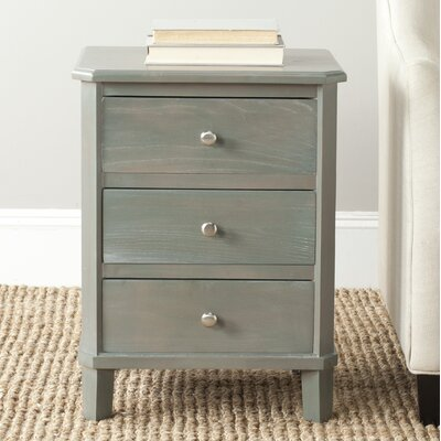 Belle De Nuit End Table With Storage Color: French Grey