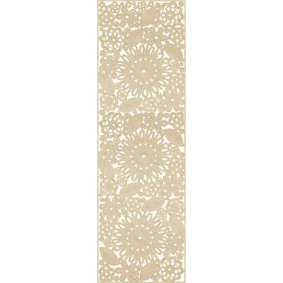 Camille Light Gray Area Rug Rug Size: Runner 26 x 8