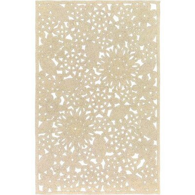 Camille Light Gray Area Rug Rug Size: 4 x 6