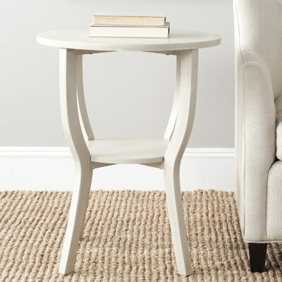 Tussilage End Table Color: Antique White