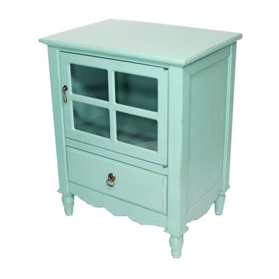 Cohen 1 Drawer Accent Cabinet Finish: Turquoise