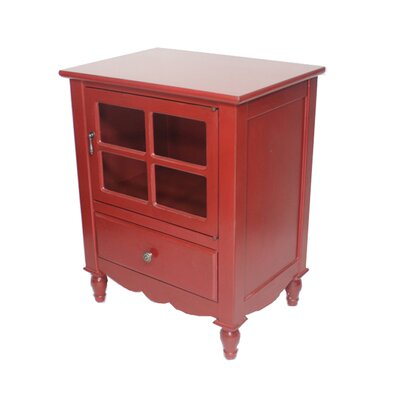 Cohen 1 Drawer Accent Cabinet Finish: Red