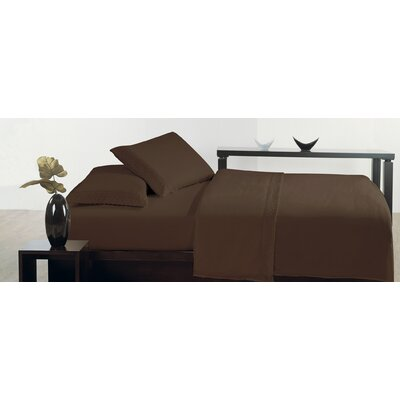 Thionville Microfiber Sheet Set Size: Queen, Color: Brown