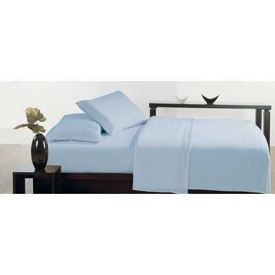Thionville Microfiber Sheet Set Size: Full, Color: Blue