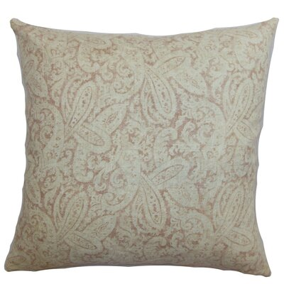 Pissenlit Paisley Cotton Throw Pillow Size: 18 x 18