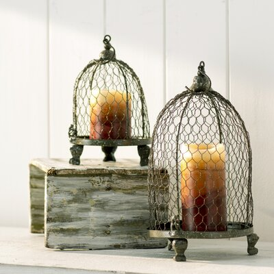 2-Piece Joan Candle Lantern Set