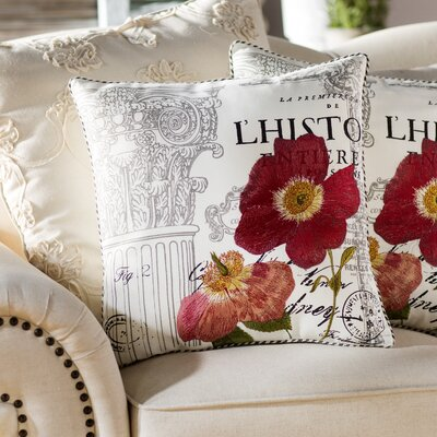 Cotton Throw Pillow Size: 18
