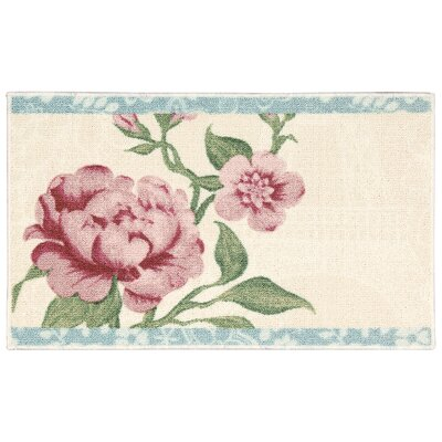 Nathael Beige Floral Area Rug Rug Size: Rectangle 18 x 29