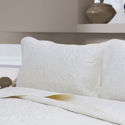 Ponce Floral Sham Size: Standard, Color: Coffee
