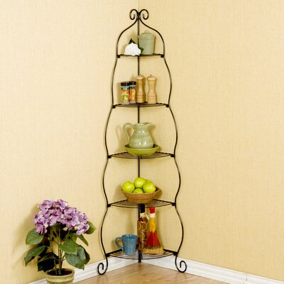 Melisse Corner Bakers Rack Finish: Black