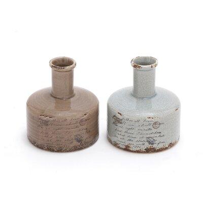 2 Piece Ceramic Vase Set