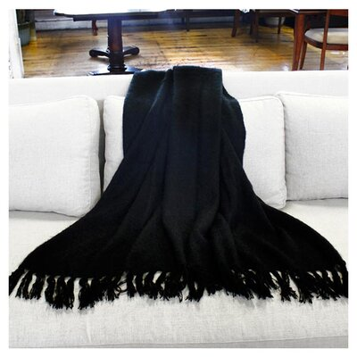 Clematite Throw Blanket Color: Black