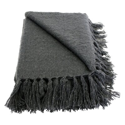 Clematite Throw Blanket Color: Grey