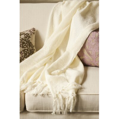 Clematite Throw Blanket Color: Cream