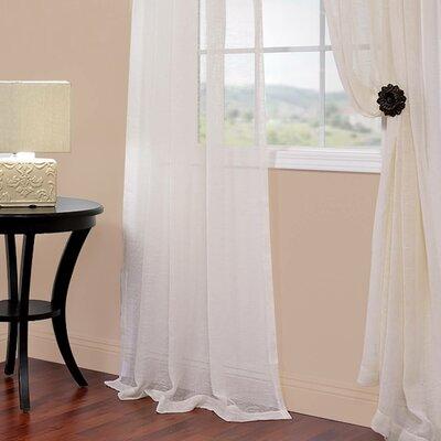 "Emie Solid Sheer Rod pocket Curtain Panels Size: 50"" W x 84"" L LARK2319 27716900"