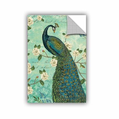 Peacock Arbor IV Graphic Art on Canvas Size: 18