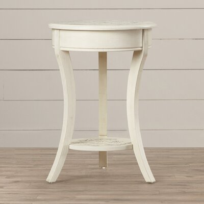 IInde Parisian Script End Table Finish: Vintage Cream