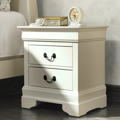Corbeil 2 Drawer Nightstand Finish: Beige