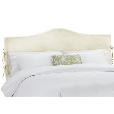 Anis Slipcover Upholstered Panel Headboard Upholstery: Regal Antique White, Size: Queen
