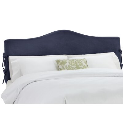 Anis Slipcover Upholstered Panel Headboard Upholstery: Regal Navy, Size: King