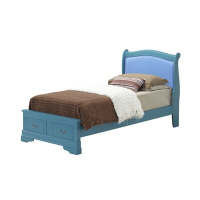 Corbeil Upholstered Platform Bed Color: Blue, Size: King