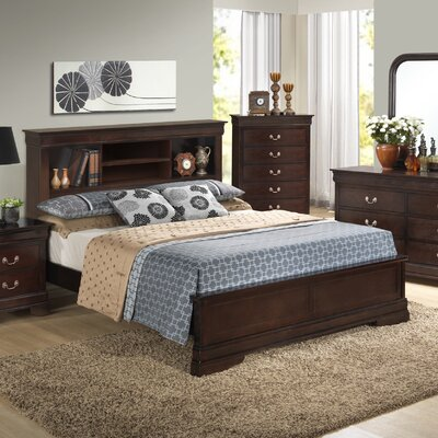 Corbeil Panel Bed Size: Queen, Color: Cherry