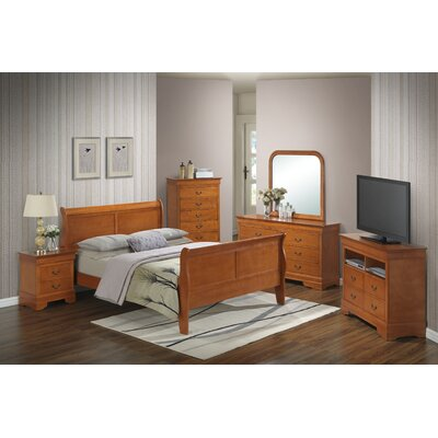 Corbeil 6 Drawer Double Dresser Color: Light Oak
