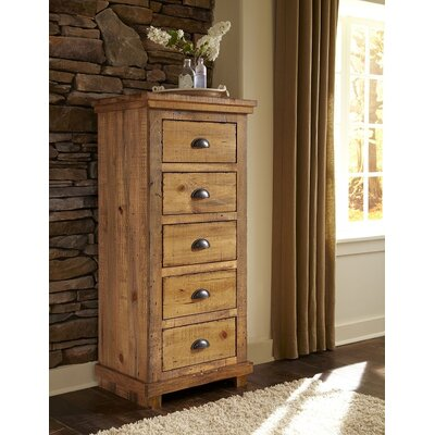 Castagnier 5 Drawer Lingerie Chest Color: Distressed Pine