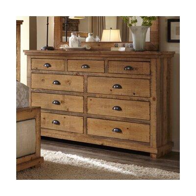 Castagnier 9 Drawer Dresser Color: Distressed Pine