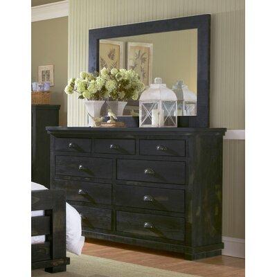 Castagnier 9 Drawer Dresser Color: Distressed Black