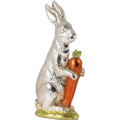 Bunny Holding Carrot Statue