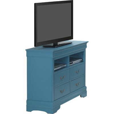 Corbeil 4 Drawer Media Chest Finish: Teal