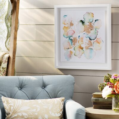 'Rose Gold Garden' Framed Graphic Art