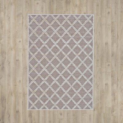 Prioleau Grey Area Rug Rug Size: 53 x 76