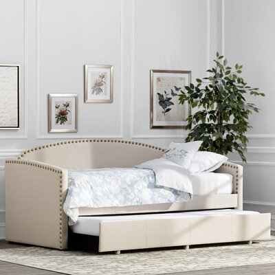 Antonin Daybed Type: Trundle Included, Color: Linen Beige