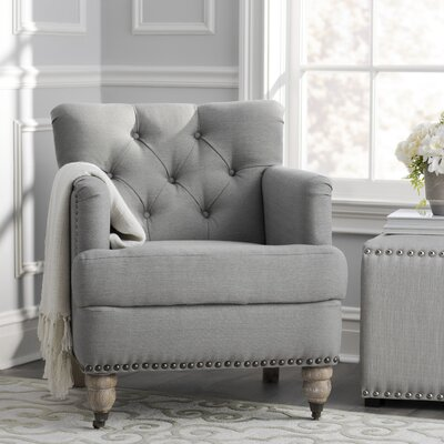 Minerve Armchair Upholstery: Stone/Grey/White Wash