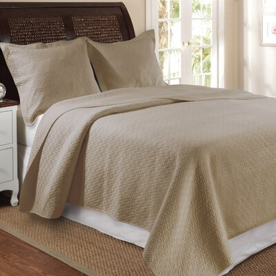 Antoine Quilt Set Size: Full / Queen, Color: Taupe