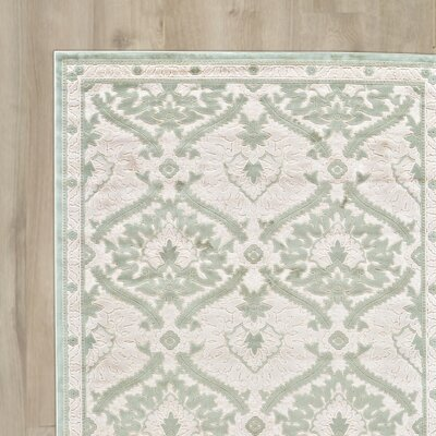 Rousseau Blue/White Area Rug Rug Size: Runner 26 x 8