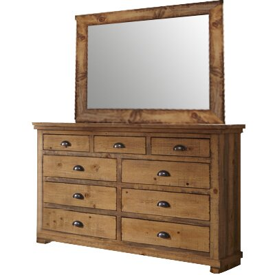Assya 9 Drawer Dresser with Mirror