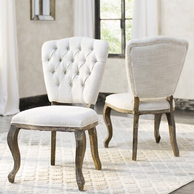 Brunoy Side Chair Upholstery: Beige