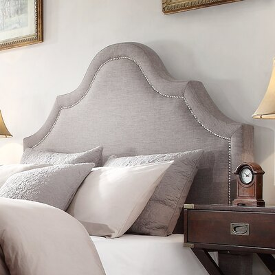 Nais Upholstered Panel Headboard Upholstery: Gray, Size: Queen