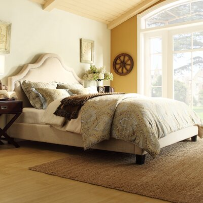 Carver Upholstered Platform Bed Size: King