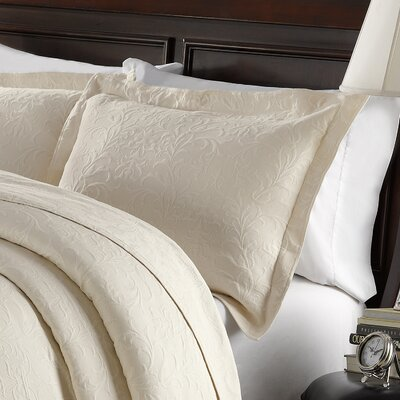 Andlau Cotton Sham Color: Ivory, Size: Standard