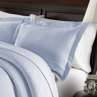 Andlau Cotton Sham Size: King, Color: Light Blue
