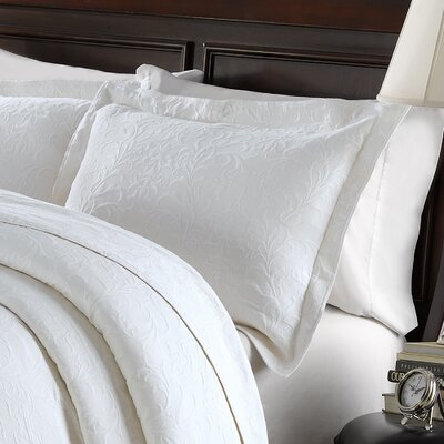 Andlau Cotton Sham Color: White, Size: Standard
