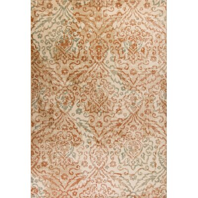 Giroflee Orange/Sand Gray Area Rug Rug Size: Rectangle 53 x 78